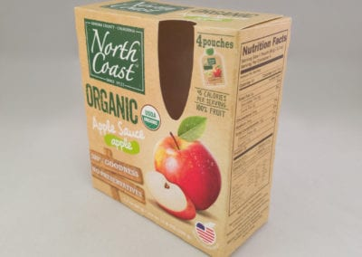 Custom Printed Full Seal End Folding Carton with Cutout Window for Food