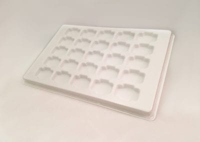 Plain Thermoformed Tray with Cavities
