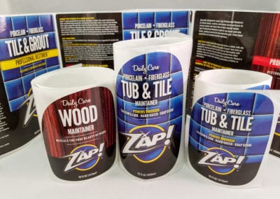Custom Printed Labels with UV Coating