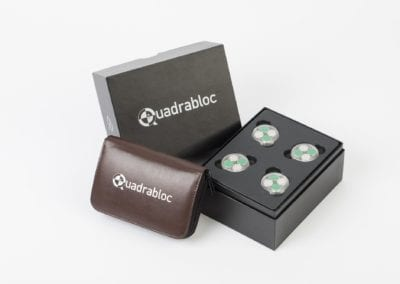 Quadrabloc Case Study – Custom Printed Rigid Box with Inserts