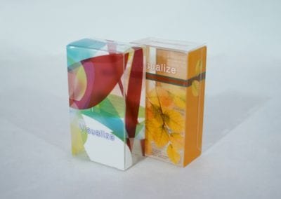 Printed Clear Transparent Straight Tuck End (STE) Box